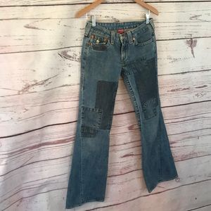 True Religion Joey Patch flared Jeans